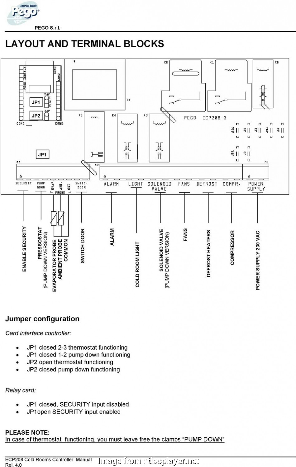 eliwell thermostat wiring diagram thermostat functioning, closed, pump down  functioning, open thermostat functioning