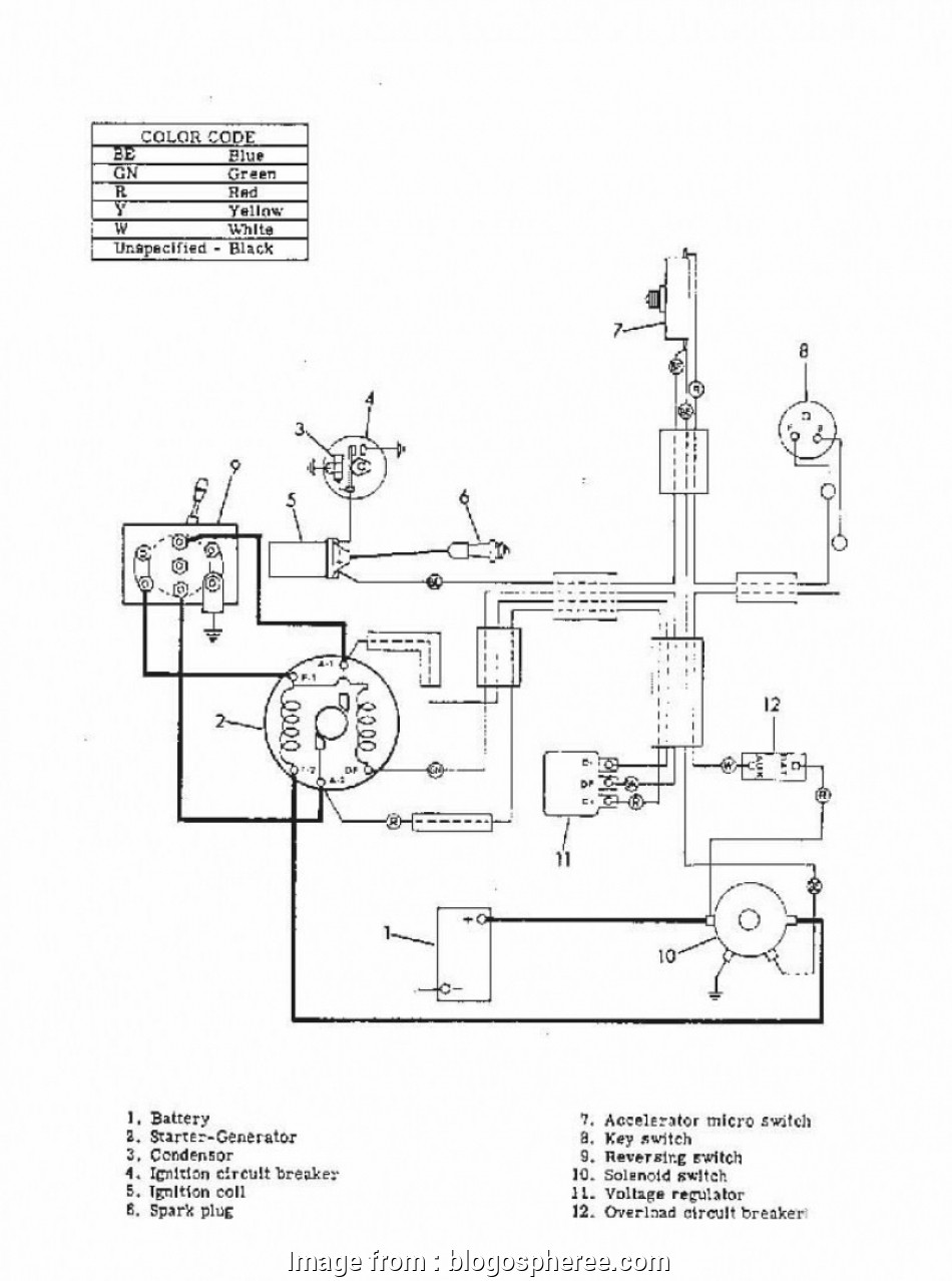 yamaha golf cart starter generator wiring diagram