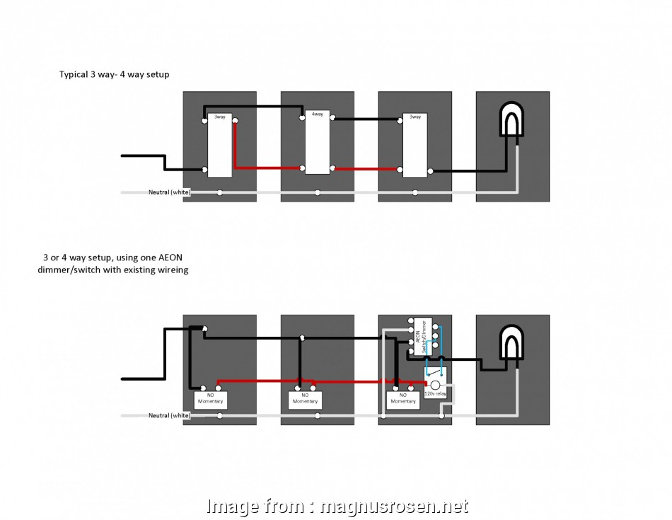 Ge 3, Switch Wiring Creative Modern 3, And 4, Switch Wiring ...  Way Switch With Dimmer Wiring Diagram Electrical on