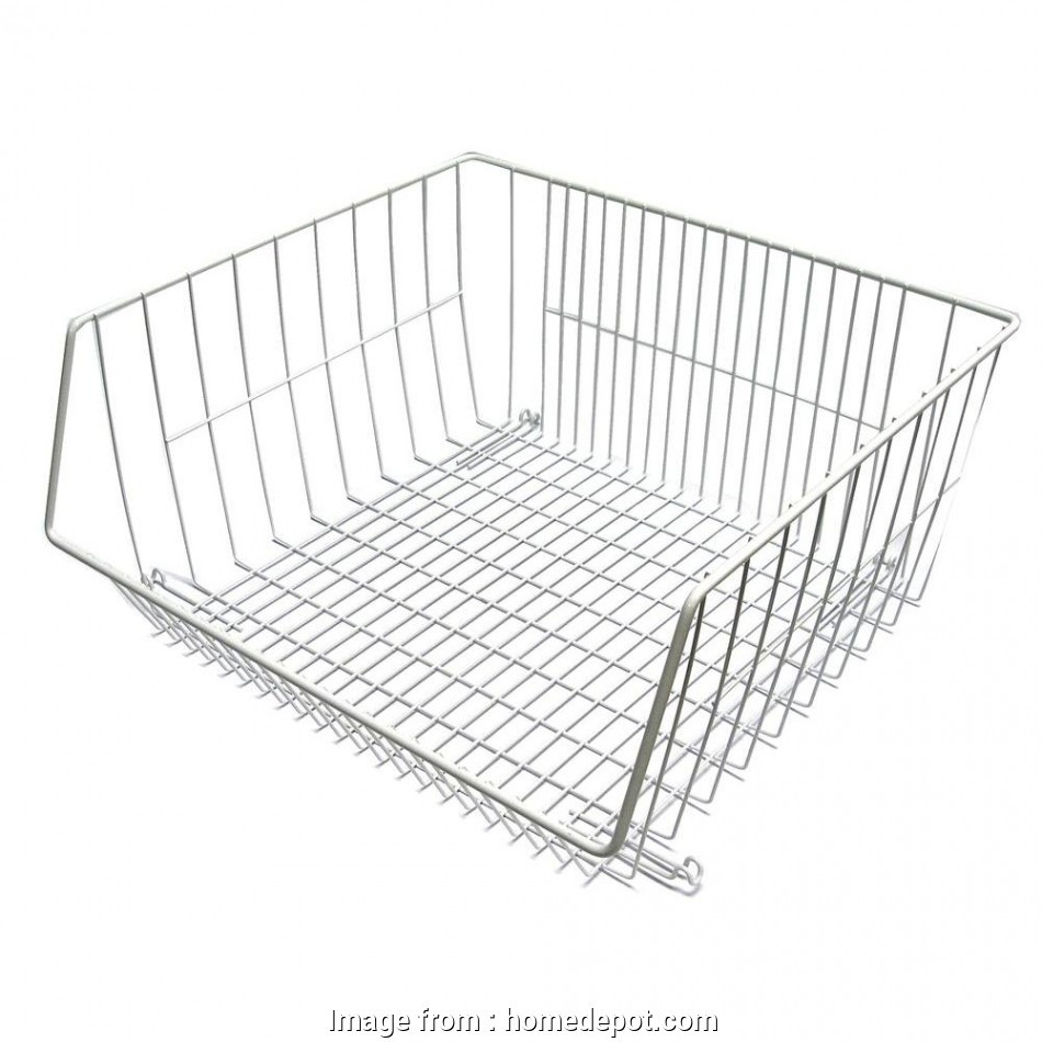 hanging wire garage shelves ClosetMaid 16.375, x 8.25, Stack-or-Hang Wire Storage Basket Hanging Wire Garage Shelves Top ClosetMaid 16.375, X 8.25, Stack-Or-Hang Wire Storage Basket Pictures