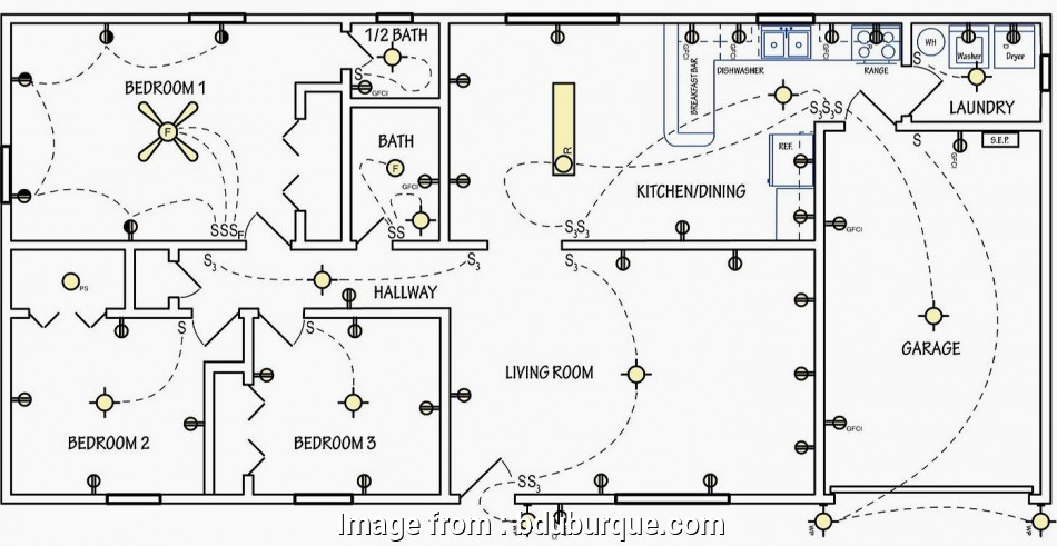 home electrical wiring blueprint and layout Electrical symbols, used on home electrical wiring plans in order 9 Professional Home Electrical Wiring Blueprint, Layout Solutions