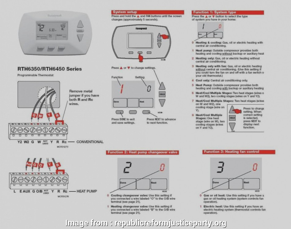Honeywell  3000 Thermostat Wiring Diagram Professional