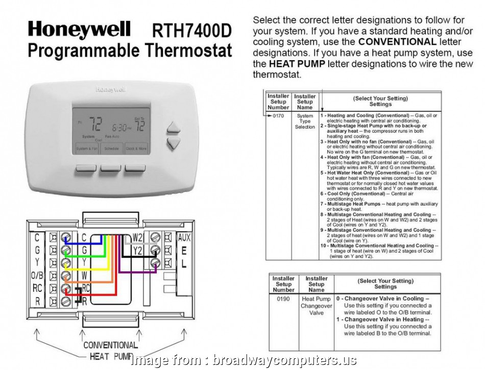 Honeywell Thermostat Th3110d1008 Wiring Diagram Creative