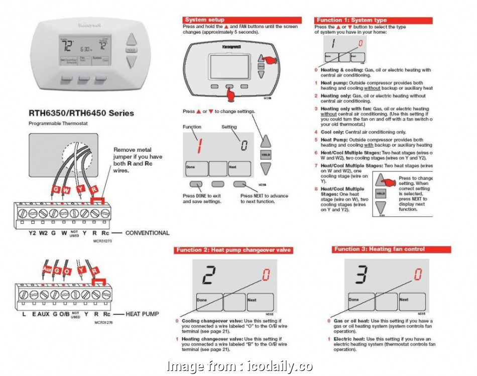 Honeywell Thermostat Wiring Diagram 4 Wire Creative Honeywell ... on