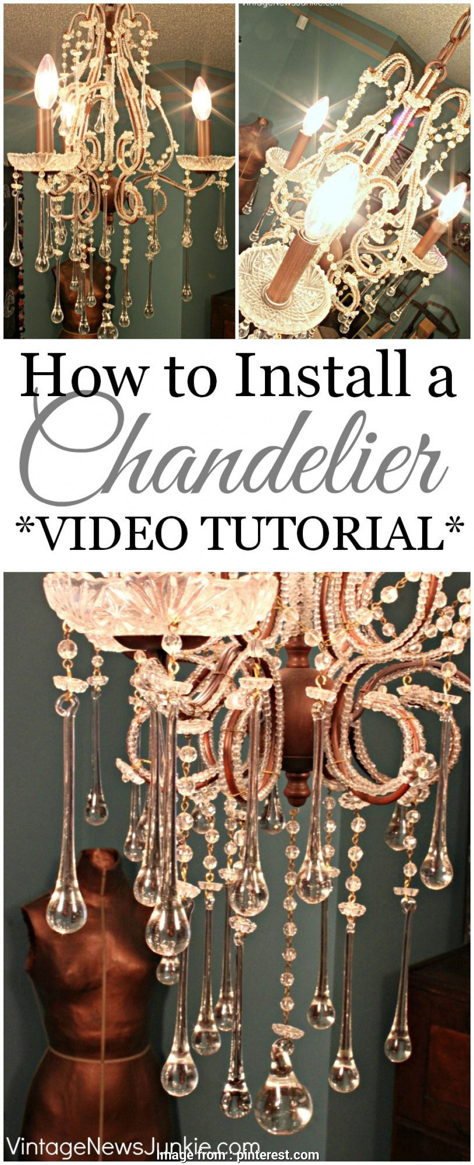 how to install a light fixture video My $8 Thrift Store Chandelier! *VIDEO TUTORIAL*, Pinterest 10 Popular How To Install A Light Fixture Video Solutions