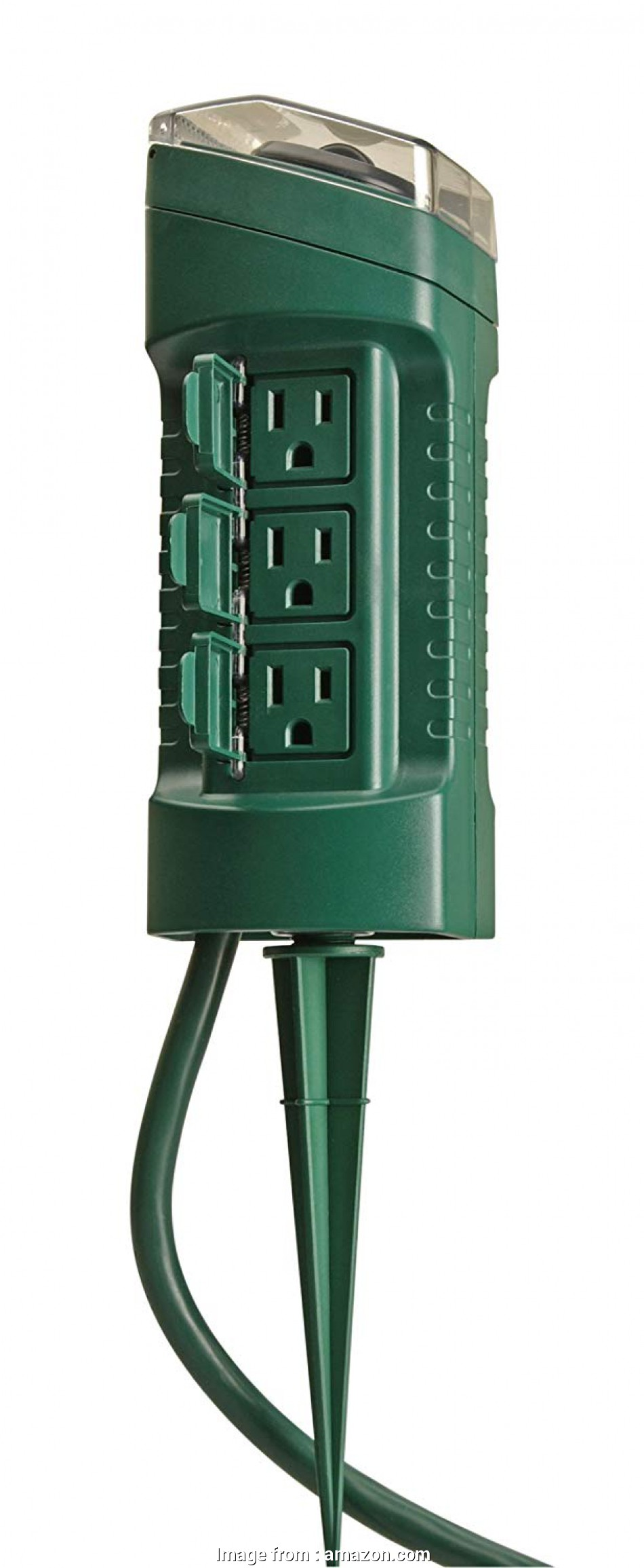 how to install an electrical outlet outdoors Woods 13547WD Outdoor Yard Stake with Photocell, Built-In Timer, 6 Grounded Outlets,, Cord, Green, Outdoor Timer, Amazon.com 8 Creative How To Install An Electrical Outlet Outdoors Photos