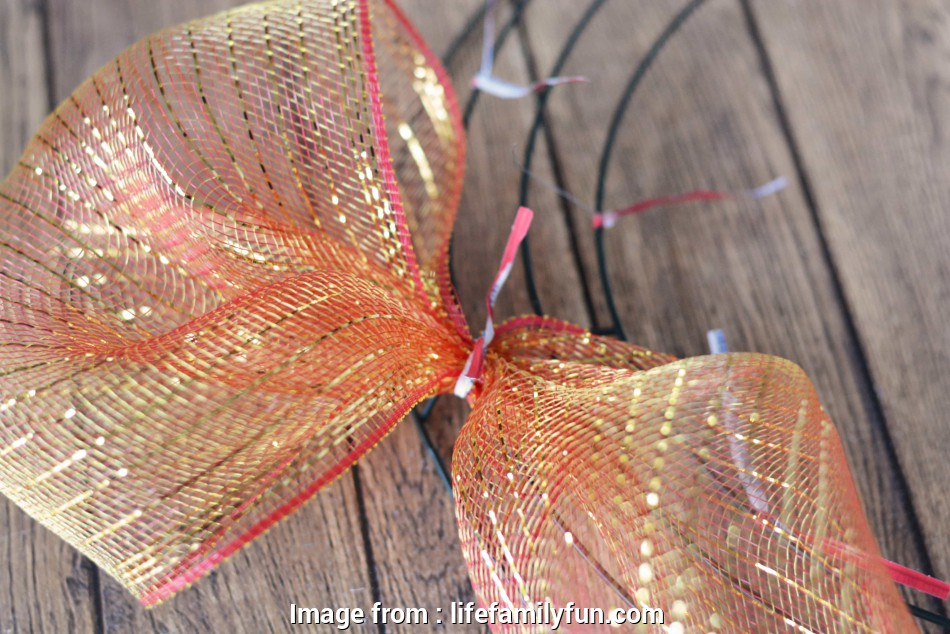 how to make a mesh ribbon wreath on wire frame Continue by using about 8