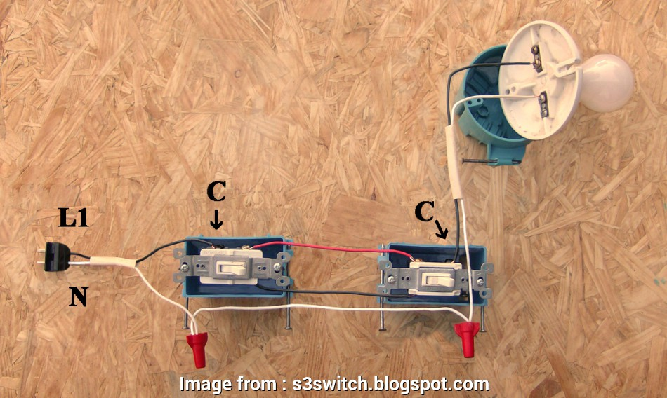 how to rough wire a 3 way switch A 2 wire (14/2, 12/2) feed is pulled from, nearest source of power, like a receptacle,. to, first 3way switch 15 Cleaver How To Rough Wire, Way Switch Ideas