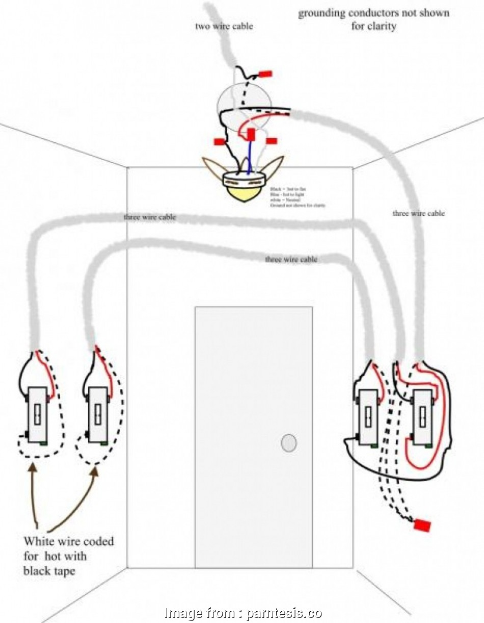 how to wire a ceiling fan light on a three way switch wiring diagram, switch ceiling, and light, saving pictures rh techteazer, 3 way 8 Most How To Wire A Ceiling, Light On A Three, Switch Images