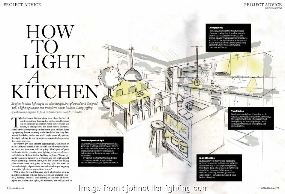 how to wire a kitchen light uk How to Light a Kitchen in Home Building & Renovating, John Cullen Lighting 12 Cleaver How To Wire A Kitchen Light Uk Collections