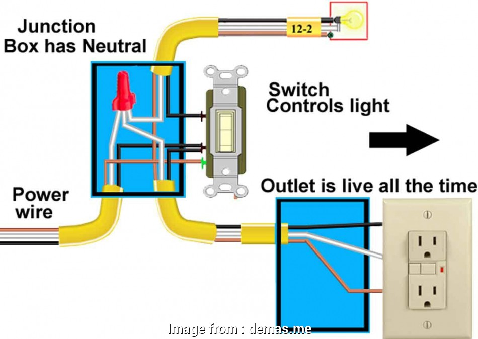 how to wire a light switch to an outlet diagram Wiring A Light Switch, Outlet Diagram Download Throughout Wire 17 Professional How To Wire A Light Switch To An Outlet Diagram Images