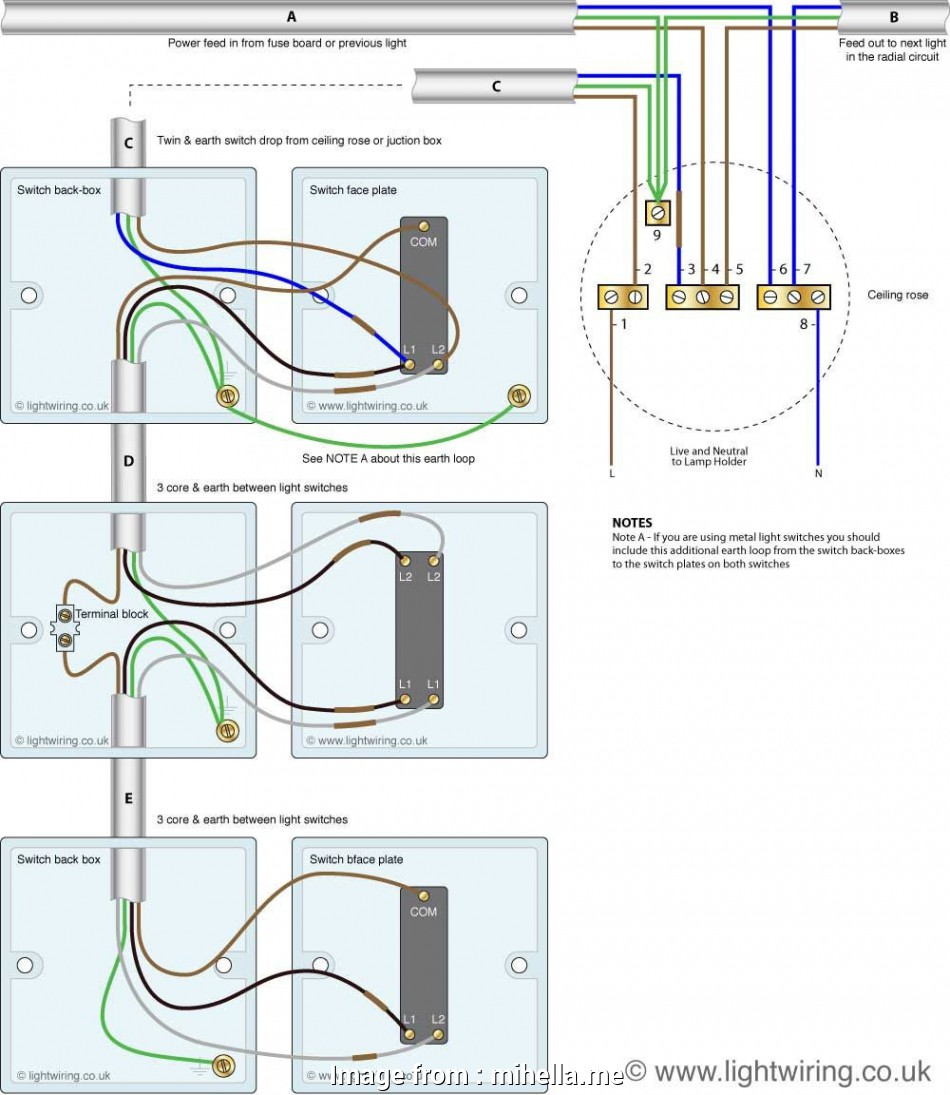 how to wire a light with 4 cables Three, Light Switching Wiring Diagram, Cable Colours, Switch 18 Fantastic How To Wire A Light With 4 Cables Collections