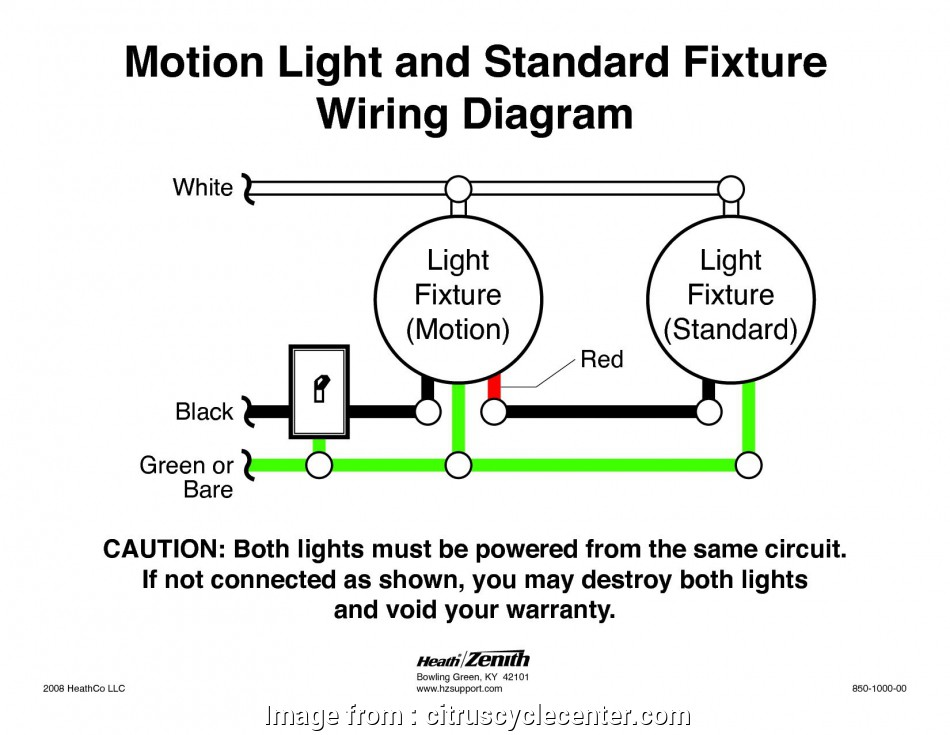 How To Wire A Light With Motion Detector Nice Heath Zenith Motion Sensor Light Wiring Diagram