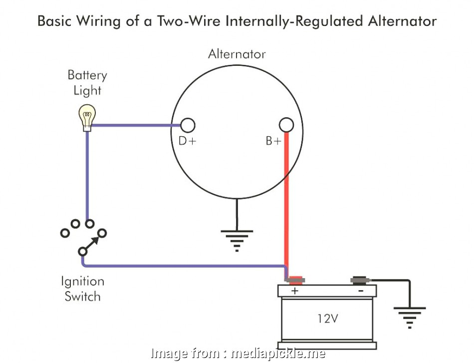 how to wire a light with one wire One Wire Alternator Wiring Diagram 0 Throughout, mediapickle.me 12 Cleaver How To Wire A Light With, Wire Images