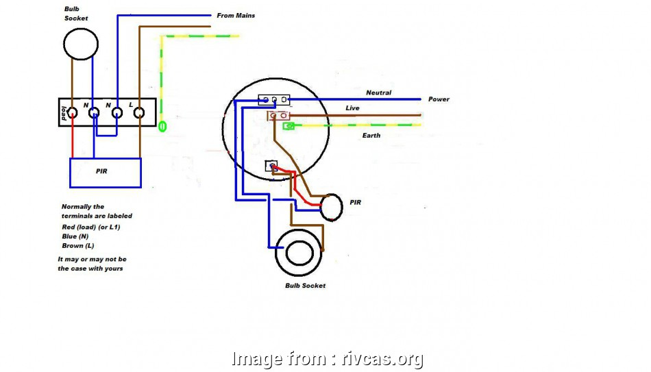How To Wire A Motion Light Outside Popular Pir Security Light Wiring Diagram Motion Sensor