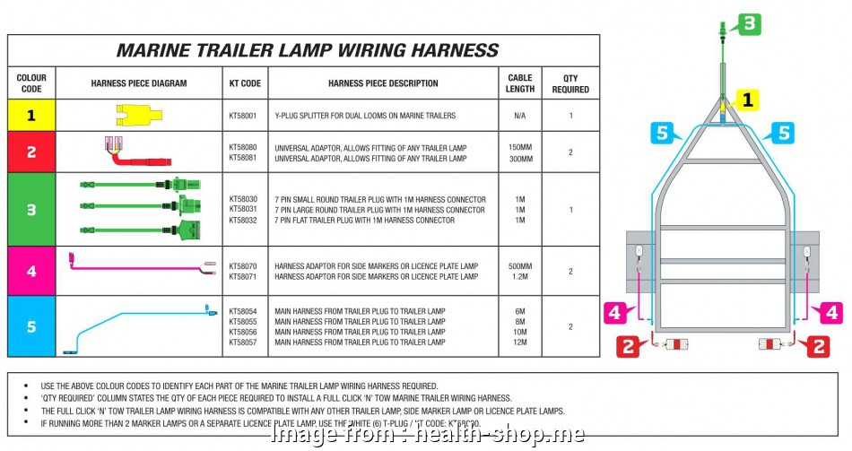 How To Wire A Trailer Lights Color Code Best Box Trailer