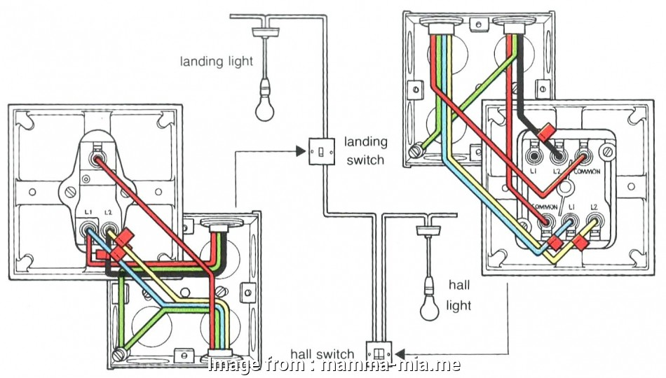 How To Wire A  Way Switch In A Car Most 2 Switches  Light Wiring Diagram Diagrams Gang 1  Switch
