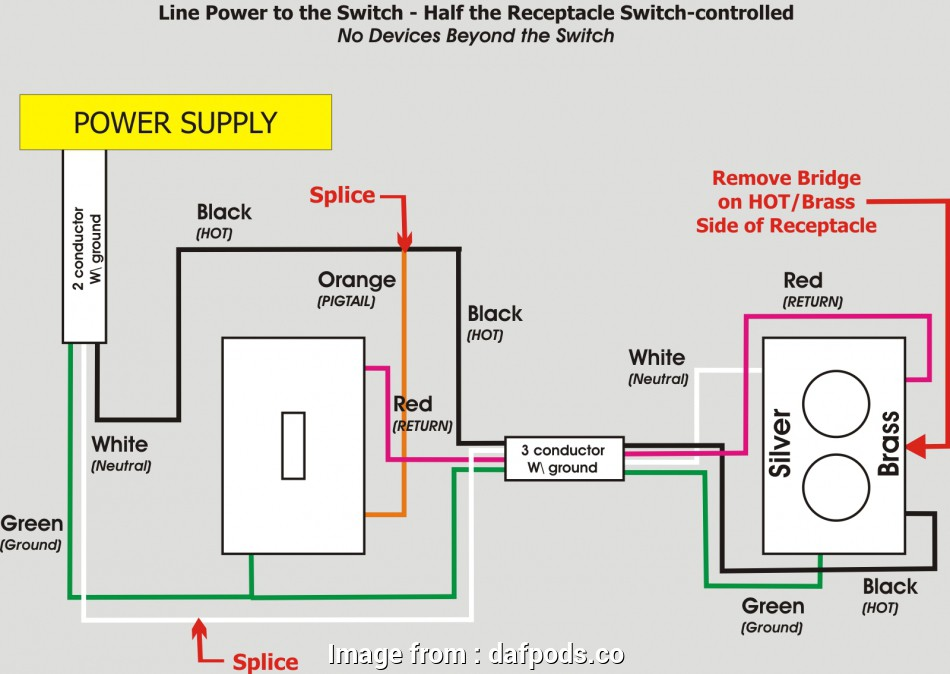 how to wire an electrical outlet to a switch How To Wire A Switched Outlet Diagram Fonar Me Wiring Switches, Plugs, Half Switched Outlet Diagrams 9 Best How To Wire An Electrical Outlet To A Switch Galleries