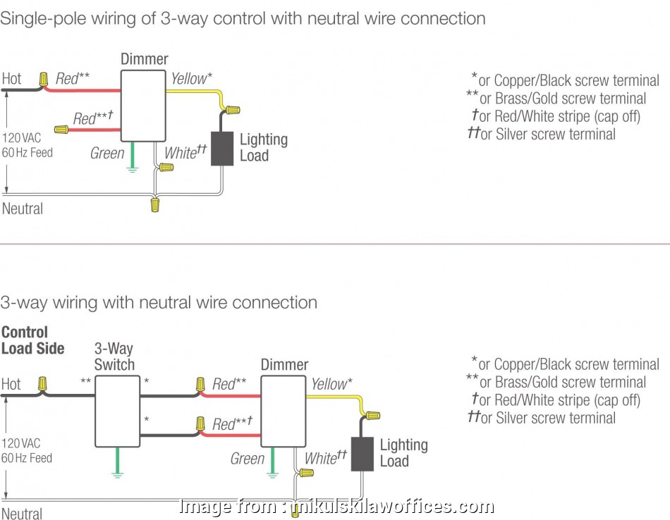 How To Wire Up A Three  Dimmer Switch Simple Lutron Dimmer