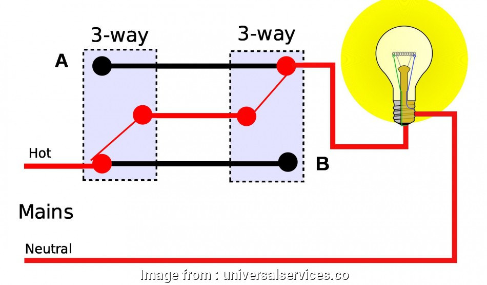 How To Wire  Way Light Switch Circuit Cleaver Lap Light