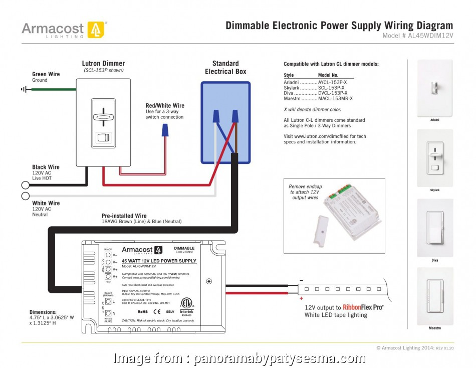 Lutron Maestro 3 Way Dimmer Wiring Diagram from tonetastic.info
