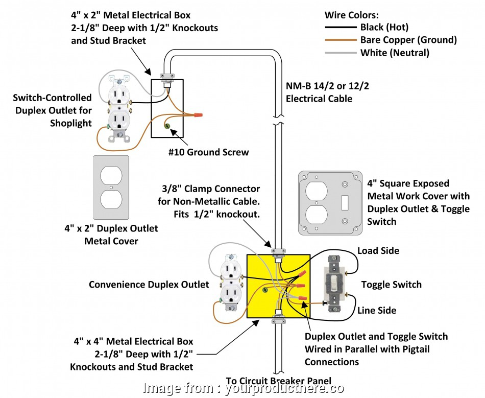 How To Wire, Way Switch Plug Simple Wiring Diagram Switch To ...  Way Switch Wiring Diagram With Outlet on 3-way switch light wiring diagram, 3-way receptacle diagram, 12 2 wire outlets diagram, double switch with outlet diagram, light switch with outlet diagram, 3 wire switch wiring diagram,