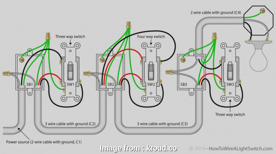 how to wire a 3 way switch with power in the middle 4, switch wiring