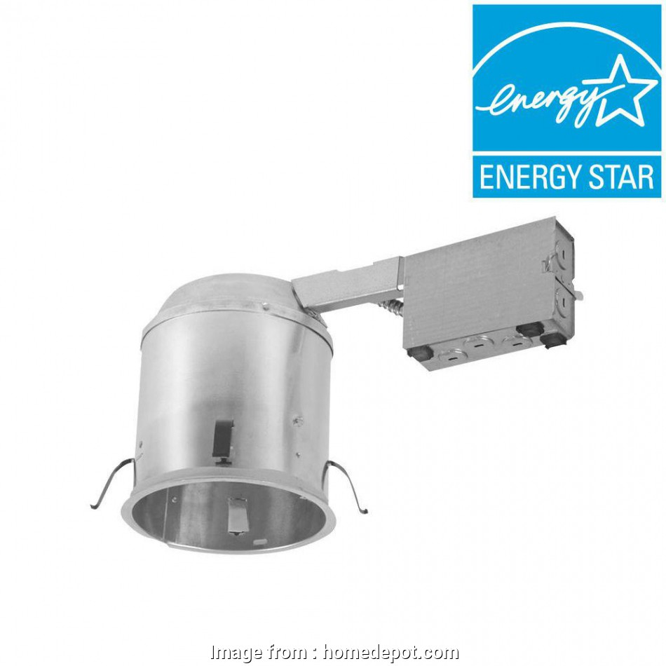 install recessed lighting without housing Halo H750 6, Aluminum, Recessed Lighting Housing, Remodel Ceiling,, Compliant, Insulation Contact, Air-Tite 13 Perfect Install Recessed Lighting Without Housing Pictures