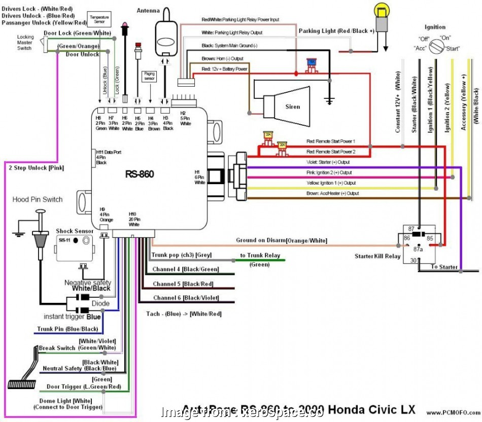 Integra Starter Wiring Diagram New 2000 Honda Civic Alarm Wiring Diagram Honda Civic Ex Door