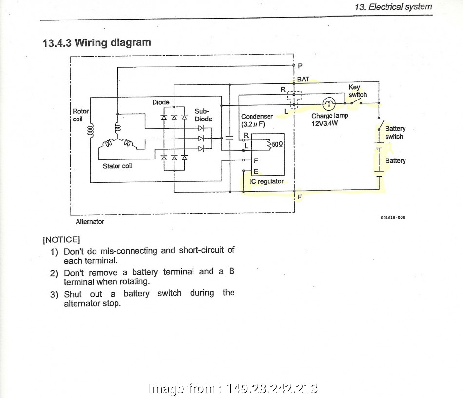 Isuzu  Electrical Wiring Diagram Most Isuzu Alternator