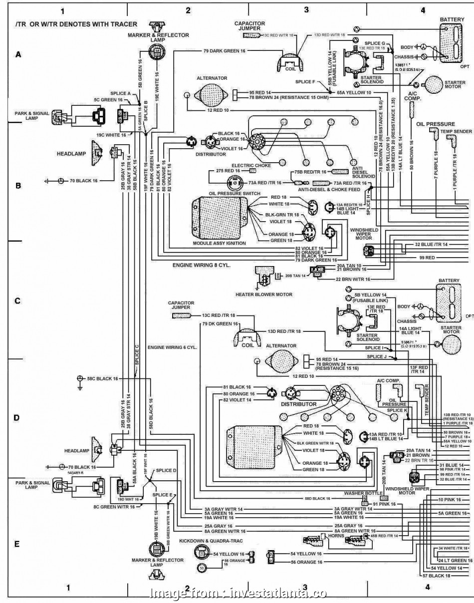 Jeep  Starter Wiring Diagram Brilliant 1988 Jeep Wrangler
