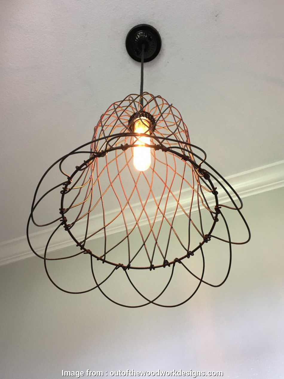 large wire pendant light ... Wire Bell Pendant Light, Large -, of, Woodwork Designs 14 Creative Large Wire Pendant Light Images