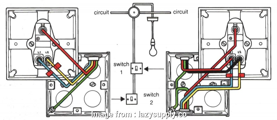 Light Switch Wiring Old Popular Two  Switching Wiring Diagram  Colours In Lighting Circuit Rh Hd