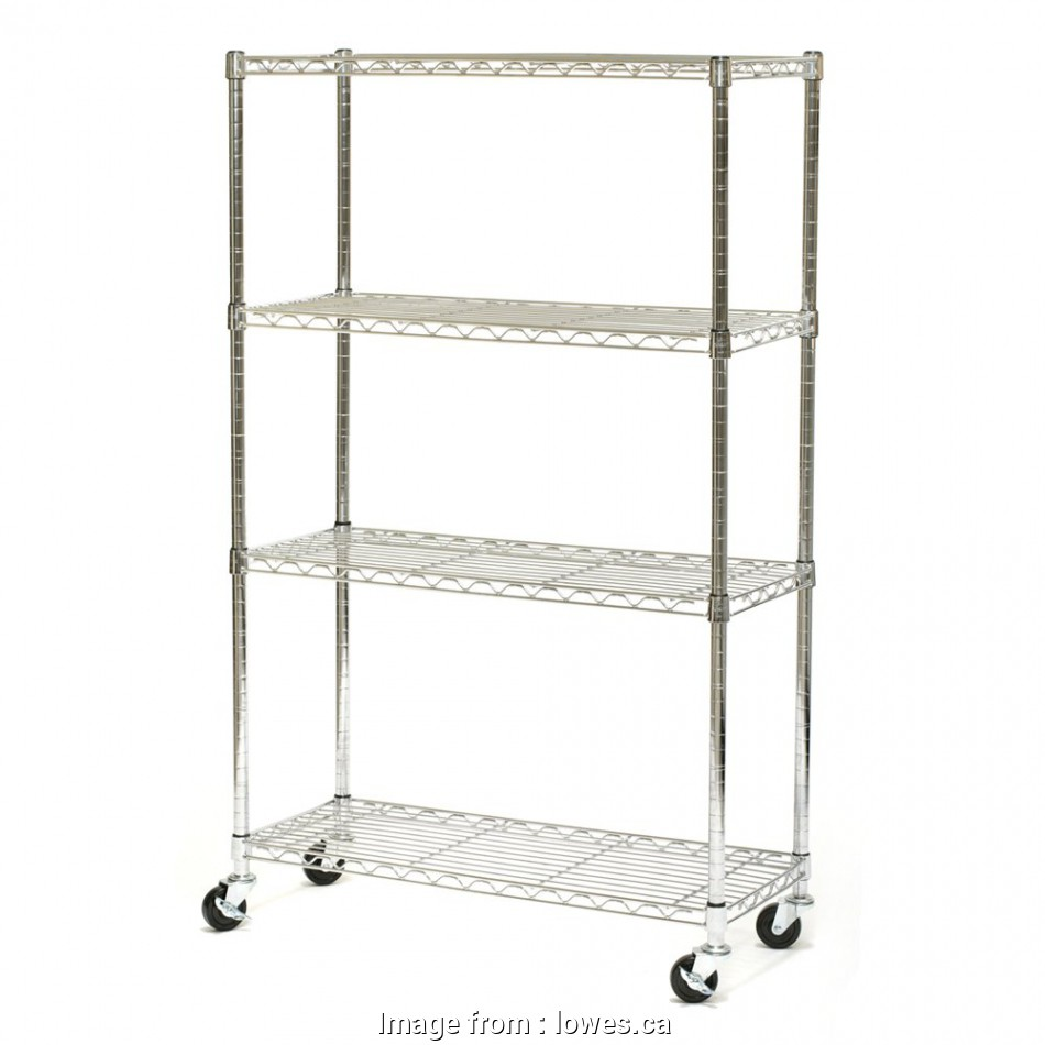 lowes.ca wire shelving Vancouver Classics SHE15363Z 4-Shelf Chrome Wire Shelving System with Wheels 19 New Lowes.Ca Wire Shelving Ideas