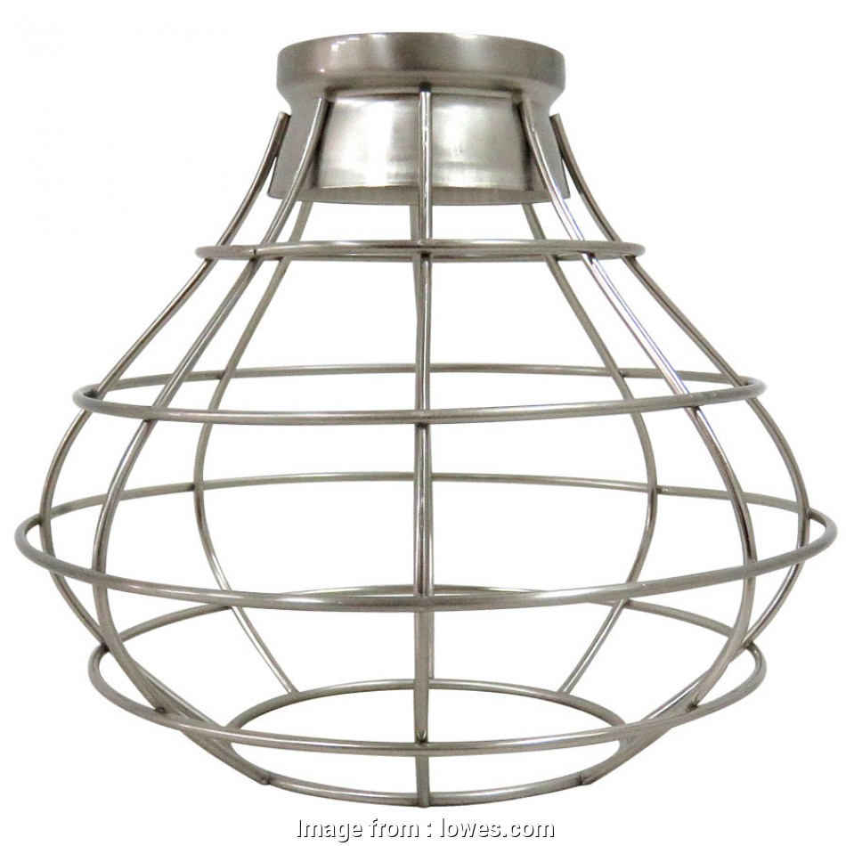 lowes wire pendant light Portfolio 8.38-in H 8.38-in W Brushed Nickel Wire Industrial Cage Pendant Light 19 Simple Lowes Wire Pendant Light Solutions