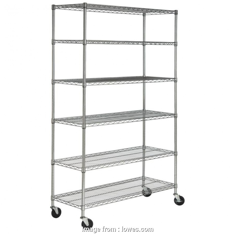 lowes wire shelving on wheels Shop Safavieh 75-in, 47.6-in, 18-in D Wire Freestanding 16 Practical Lowes Wire Shelving On Wheels Collections