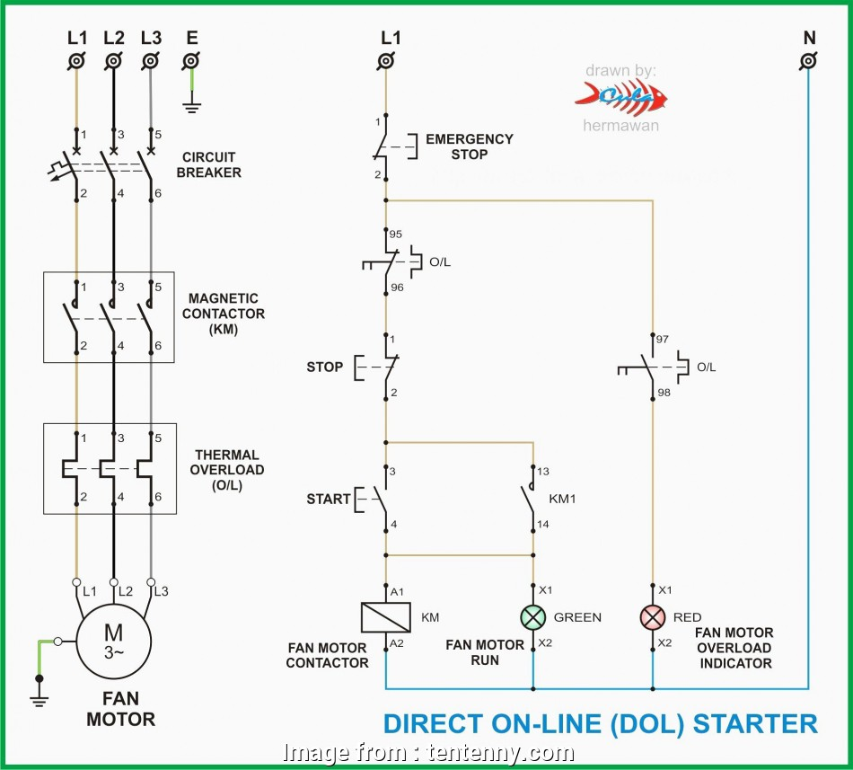 L&T Starter Wiring Diagram Simple 3 Phase Contactor Wiring