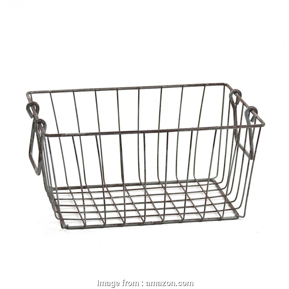 metal wire basket shelving Amazon.com: Skalny Rectangle Wire Storage Container, 10 x, x 4.5