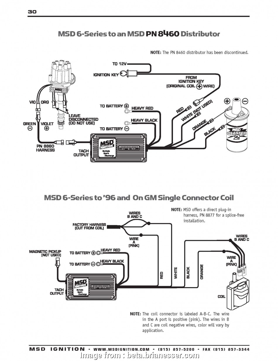 msd 6al ignition box wiring diagram ..., modules Part 2 ·, 6 Series to GM 96′, on single connector coil 19 Most Msd, Ignition, Wiring Diagram Images