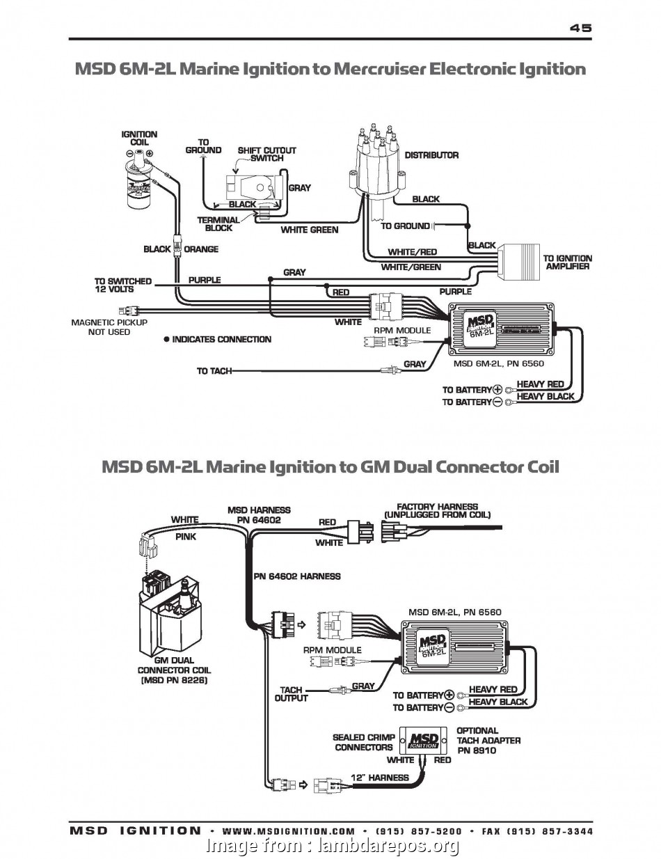 Msd, Ignition, Wiring Diagram Popular Accel Ignition Coil