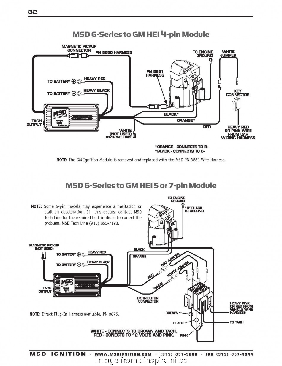 Msd  Wiring Diagram Gm Hei Best Msd Gm  Wiring Trusted