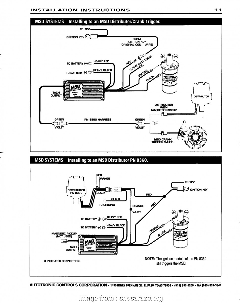 Msd  Wiring Diagrams Brilliant Msd Ignition Systems At