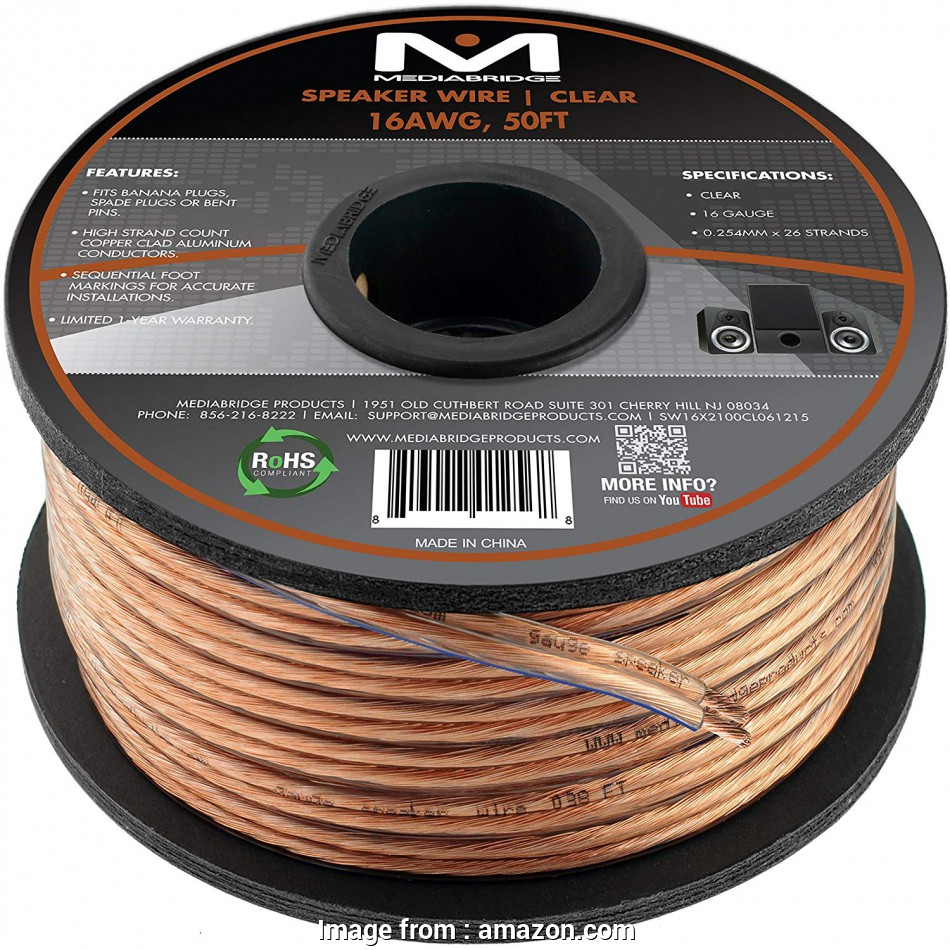 paradigm speaker wire gauge Amazon.com: Mediabridge 16AWG 2-Conductor Speaker Wire, Feet, Clear), Spooled Design with Sequential Foot Markings (Part# SW-16X2-50-CL ): Home Audio & 12 Simple Paradigm Speaker Wire Gauge Solutions