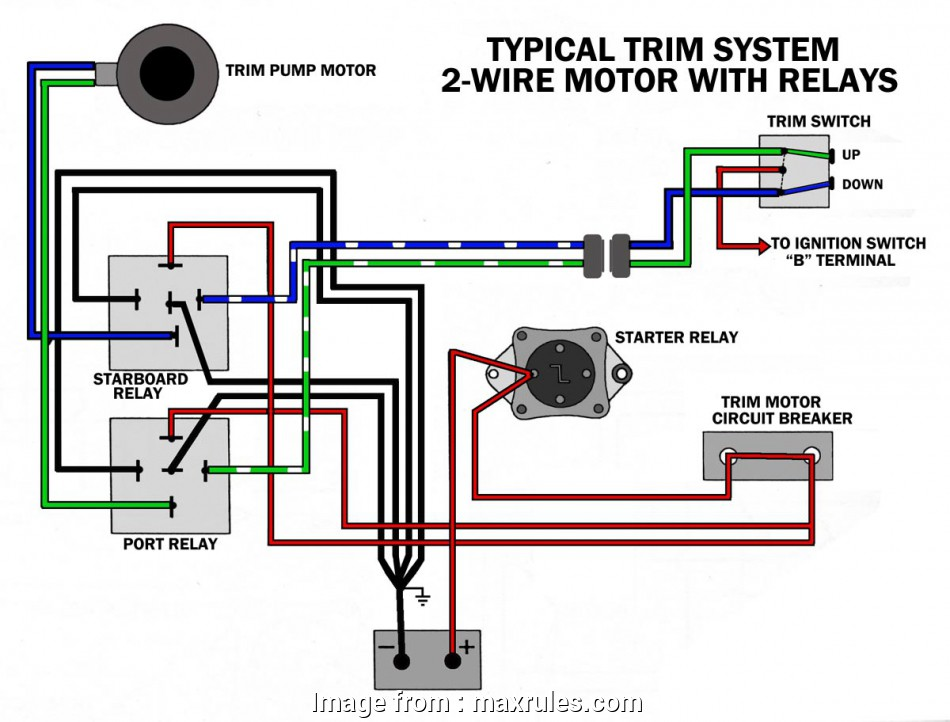 power trim wiring diagram johnson Common Outboard Motor Trim, Tilt System Wiring Diagrams 9 Simple Power Trim Wiring Diagram Johnson Ideas