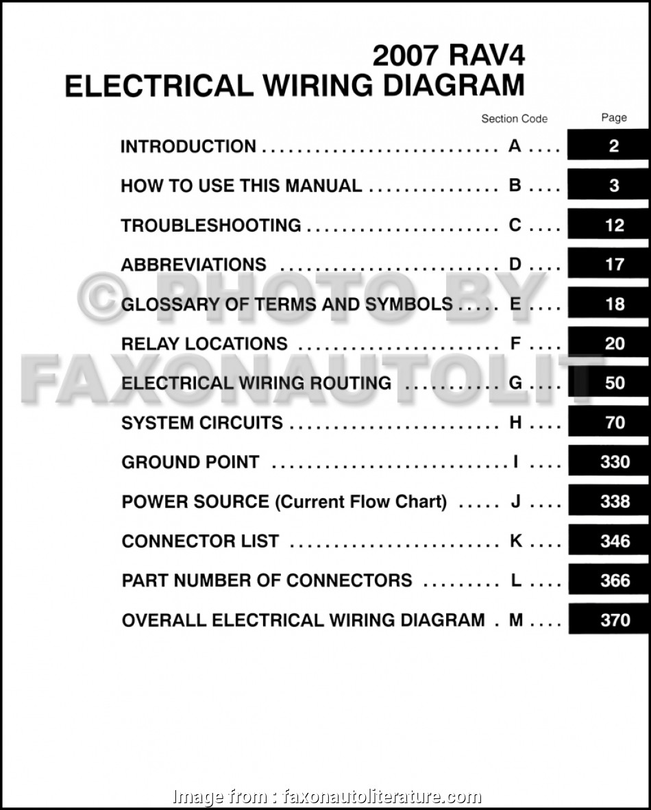 Rav4 Electrical Wiring Diagram Brilliant 2007 Toyota Rav4