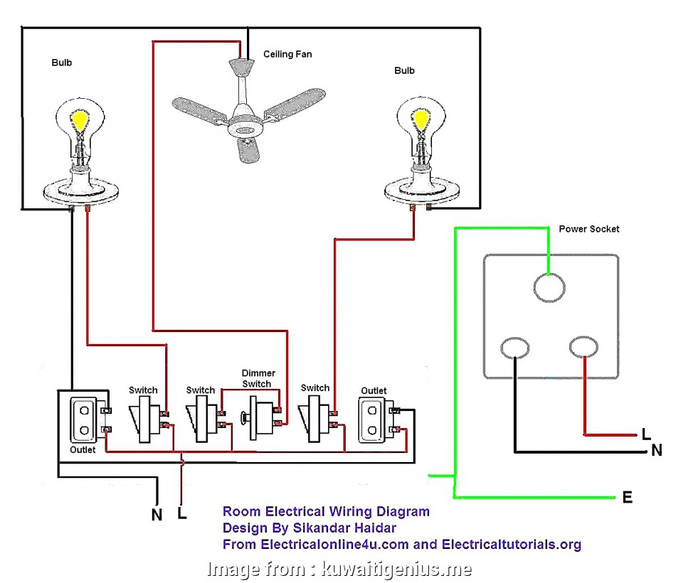 Simple Electrical Wiring Diagram  Home Practical Wiring Diagram Basic House Electrical Diagrams