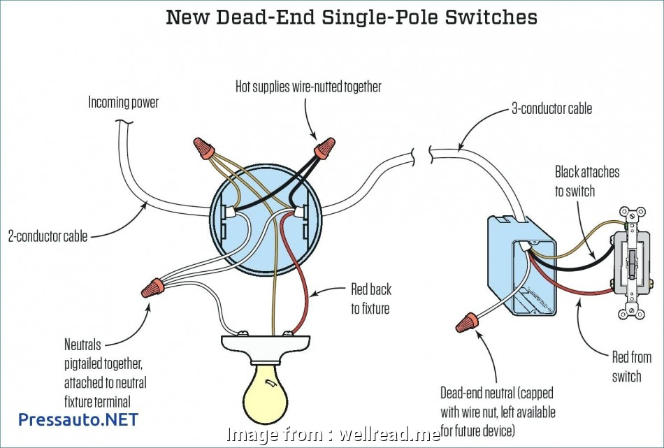 Single Pole Switch Wiring Diagram Light Best Single Pole