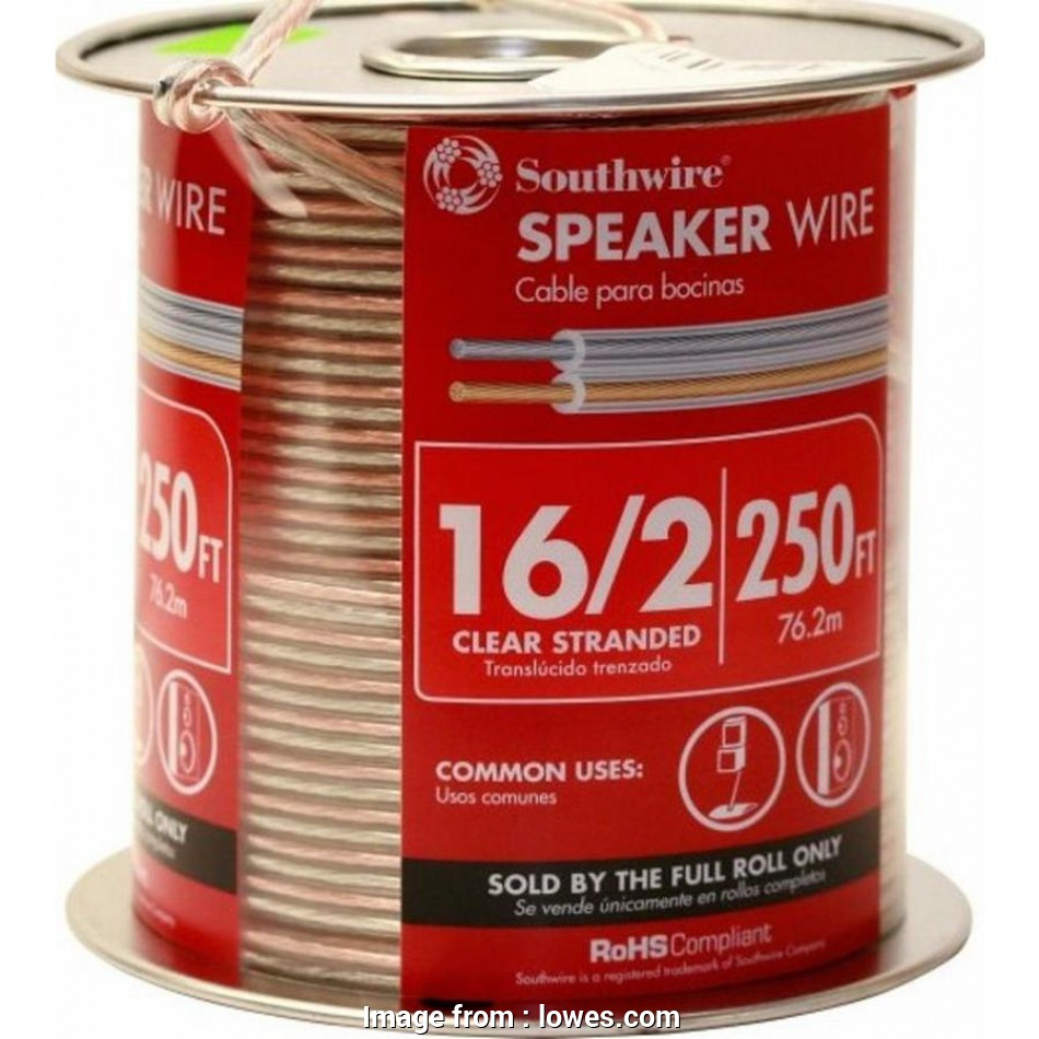 speaker wire gauge 100 watts 250-ft 16, to 2 Standard Speaker Wire (By-The-Roll 16 Top Speaker Wire Gauge, Watts Galleries