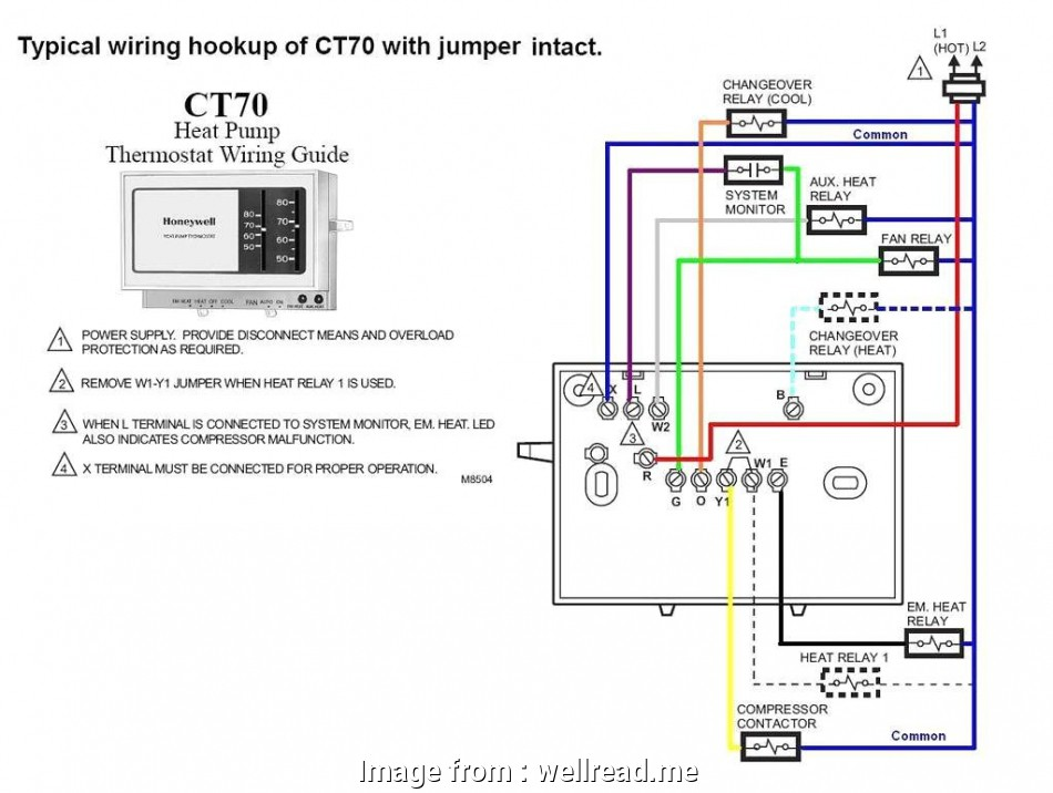 Thermostat Contactor Wiring Diagram Best Honeywell ... on