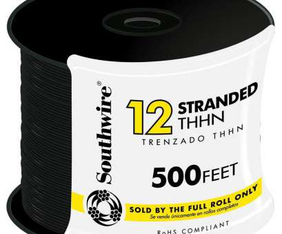 12 gauge electrical wire by the foot Southwire, ft. 12 Black Stranded CU THHN Wire 13 Perfect 12 Gauge Electrical Wire By, Foot Solutions